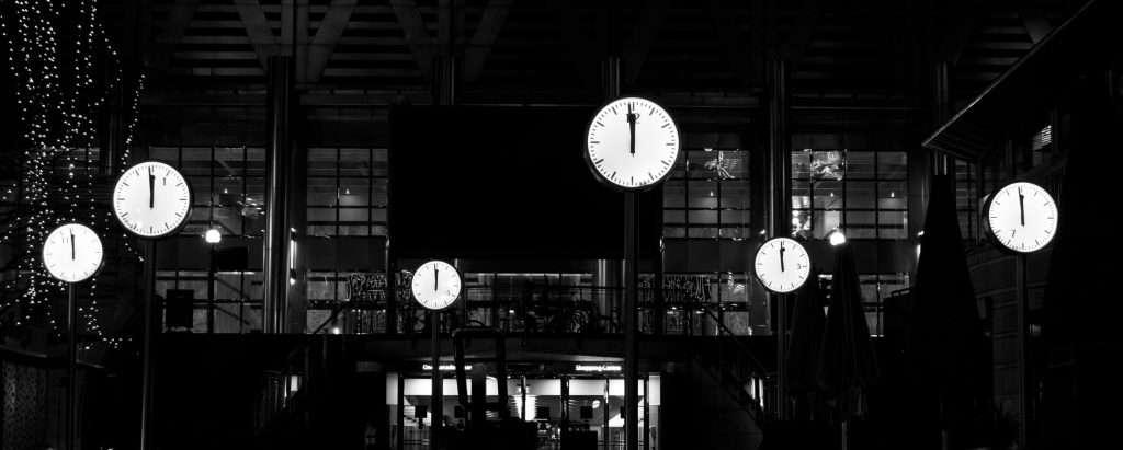Clocks at night